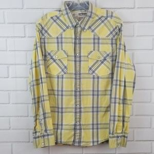 Urban Pipeline Plaid Pearl Snap Button Down Shirt